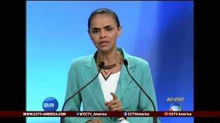 See the news report video by Brazilian presidential debate shows more support for Rousseff