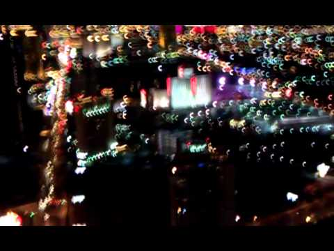 las vegas strip at night from the stratosphere tower