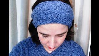 Вязание повязки на голову с узором