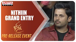 Nithiin Grand Entry @ Bheeshma Pre Release Event  | Rashmika| Venky Kudumula | Mahati Swara Sagar - ADITYAMUSIC