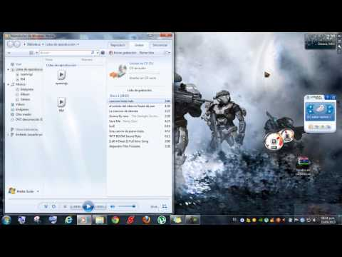 como grabar un CD con el reproductor de windows media loquendo