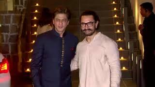Aamir Khan's Diwali Party With Shah Rukh Khan & Gauri Khan - HUNGAMA