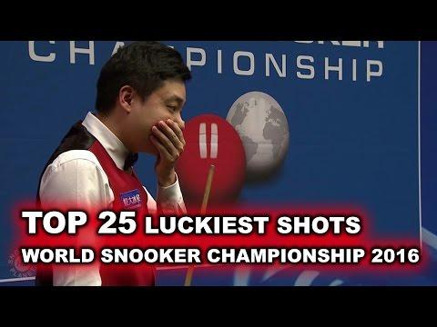 TOP SHOTS!!! TOP 25 LUCKIEST SHOTS | World Snooker Championship 2016