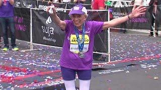 بالفيديو| عمرها 92 عاما.. أمريكية تفوز بمارثون سان دييجو