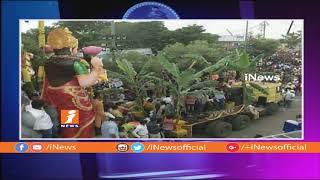 కాసేపట్లో ఖైరతాబాద్ గణేష్ నిమరజ్జనం | Arrangements For Khairatabad Ganesh Nimajjanam | iNews - INEWS