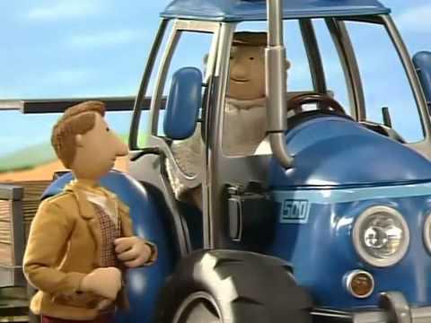 Czerwony traktorek   Na jeżyny