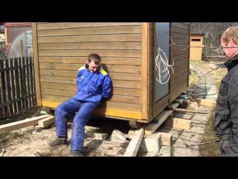 Как поднять садовый домик