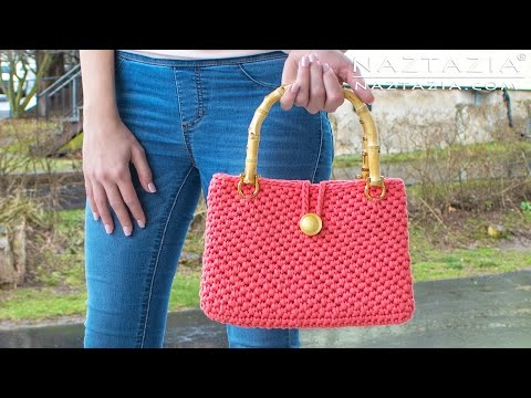 Crochet Jersey Purse - DIY Tutorial for Handbag - Easy T-Shirt Yarn Bolsa Bag