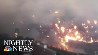 Record-Breaking Wildfires Ravaging California | NBC Nightly News - NBCNEWS
