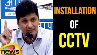 AAP Chief Spokesperson Saurabh Bhardwaj Briefs Media on CCTV issue | Mango News - MANGONEWS