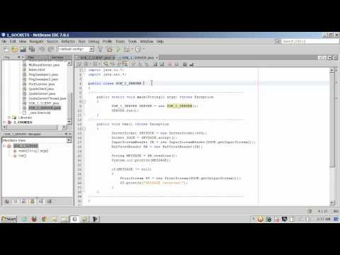 Java - Sockets - Introduction - 1 of 3