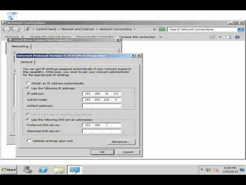 Basic Domain Controller and Client Setup in Server 2008 R2