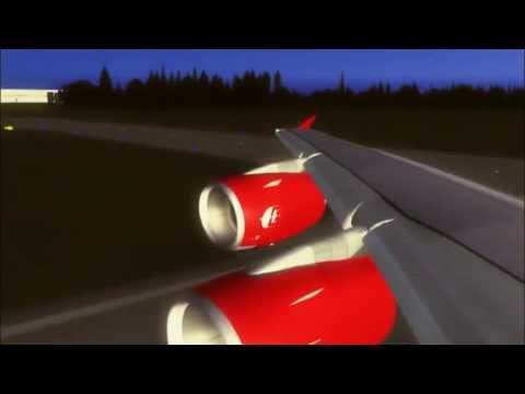 Test flight Airbus A380 of Malaysia Airlines A380 (FSX)
