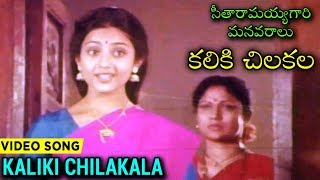 Kaliki Chilakala Koliki Video Song With Lyrics | Telugu Superhit Movie సీతారామయ్యగారి మనవరాలు - RAJSHRITELUGU