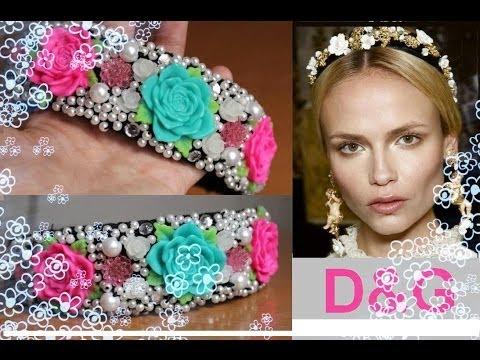 Youtube download : DIY Как СДЕЛАТЬ ОБОДОК в стиле D&G Dolce & Gabbana Тиара (корона)