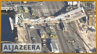 🇺🇸 Florida: Pedestrian bridge collapse kills at least 4 | Al Jazeera English - ALJAZEERAENGLISH