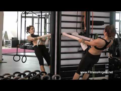 Srednje teški trening bez pauze sa girjama: rutina 2