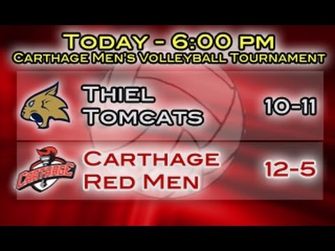 Carthage Men's Volleyball vs. Thiel 2014_03_15