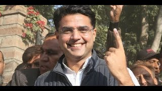 Sachin Pilot's supporters chanting slogans in his favour at oath ceremony - NEWSXLIVE