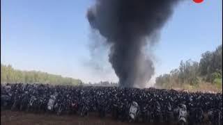 Bengaluru: Fire at car parking area of Aero India show at Yelahanka Air Base - ZEENEWS