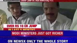 Sharp jump in 3 NDA ministers wealth in 5 months time - NEWSXLIVE