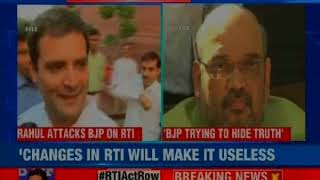 Rahul Gandhi attacks BJP on RTI, says changes to RTI will make it useless - NEWSXLIVE
