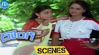 Donga Movie Scenes    Chiranjeevi, Radha at Cinema Theatre Comedy Scene - IDREAMMOVIES