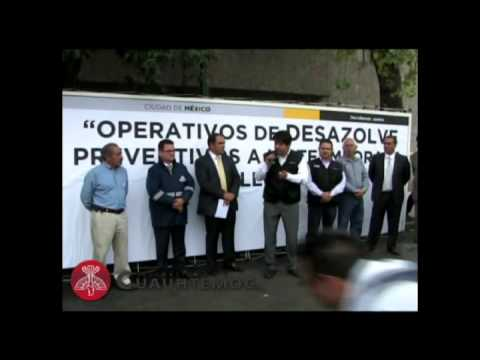 DESAZOLVE EN 15 COLONIAS DE LA DELEGACIN CUAUHTMOC