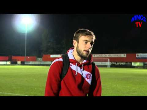 Welling United joint caretaker manager Jake Gallagher talking after postponed FA Trophy match