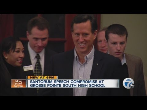 Santorum will speak at school
