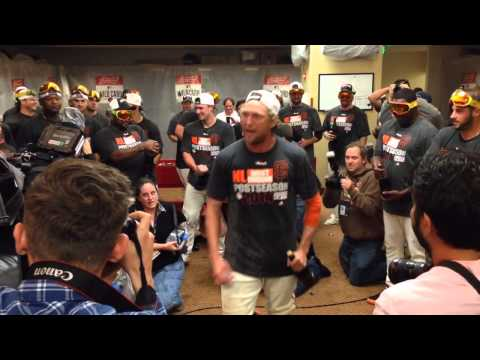 Hunter Pence speech after clinching wild card 2014