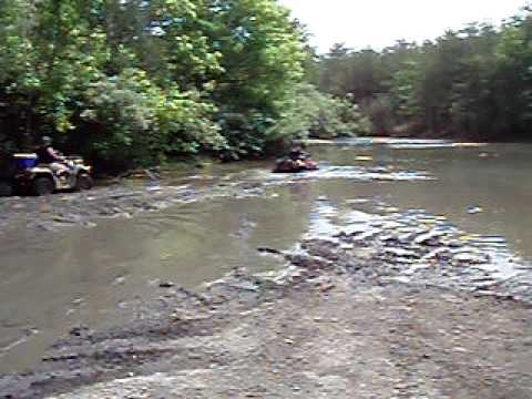 can am atv goes into pond 1