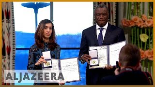 🏆World's indifference to sexual violence must end: Nobel laureates | Al Jazeera English - ALJAZEERAENGLISH