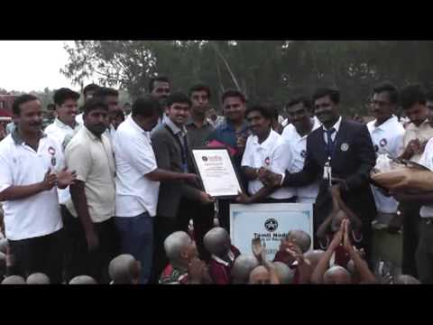 Gandhi World Foundation Created 4 New World Records in Gummudipoondi 29/01/2013