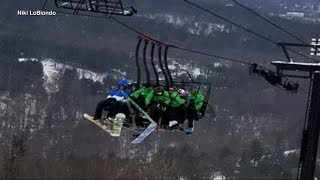 Chairlifts collide in ski-lift malfunction, injuring 5 - ABCNEWS