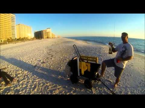 Panama City Beach Pompano fishing 2-10-13