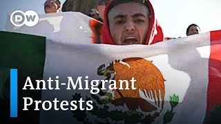 Anti-Immigrant protests spark violence in Tijuana | DW News - DEUTSCHEWELLEENGLISH