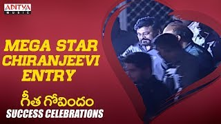 MEGA STAR Chiranjeevi Entry @ Geetha Govindam Success Celebrations - ADITYAMUSIC