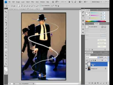 Photoshop cs4  criando efeito de luzes sobre o corpo
