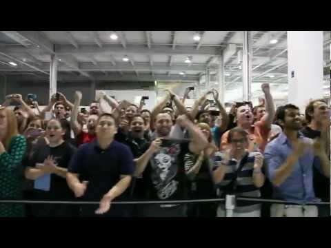 SpaceX Launch - SpaceX Employees Cheering Outside Mission Control