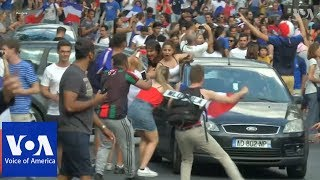 France Celebrates World Cup Victory - VOAVIDEO