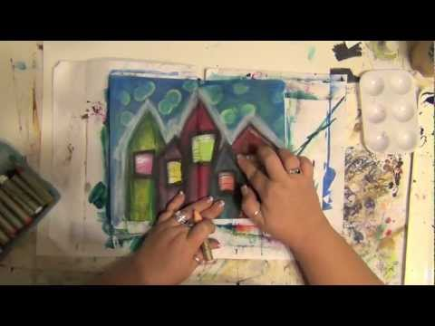 How to art journal process page - Home is Where the Heart Is