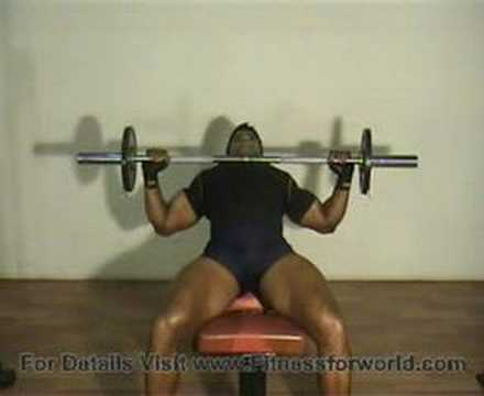 The best exercise is to develope upper fiber of chest muscles and front shoulder muscles