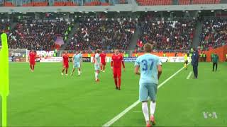 Russian City of Saransk Tests New Arena Ahead of FIFA World Cup 2018 - VOAVIDEO