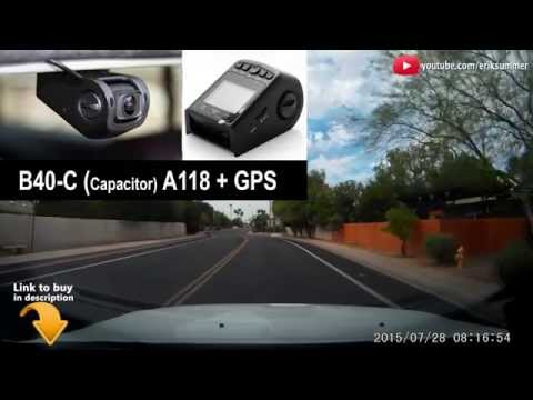 BEST Dashcam w/GPS records Speed and Location A118 / B40