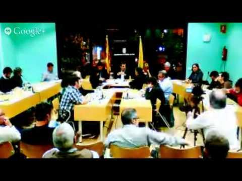 Ple Municipal sobre ordenances municipals novembre 2014