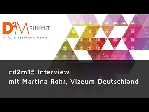 #d2m15 Interviews - Martina Rohr, Vizeum Deutschland