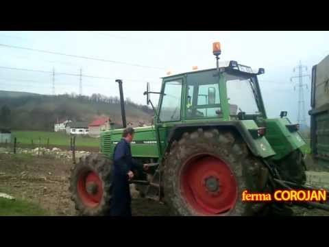 o zi de munca  la FERMA COROJAN (floresti, cluj) FENDT FARMER 312LSA  si  Buldoescavator CATERPILAR