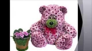 Arreglo floral en forma de animalito