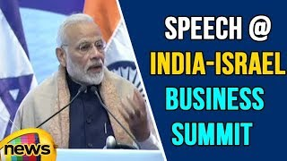 PM Modi Amazing Speech At India-Israel Business Summit | Netanyahu's India visit | Mango News - MANGONEWS